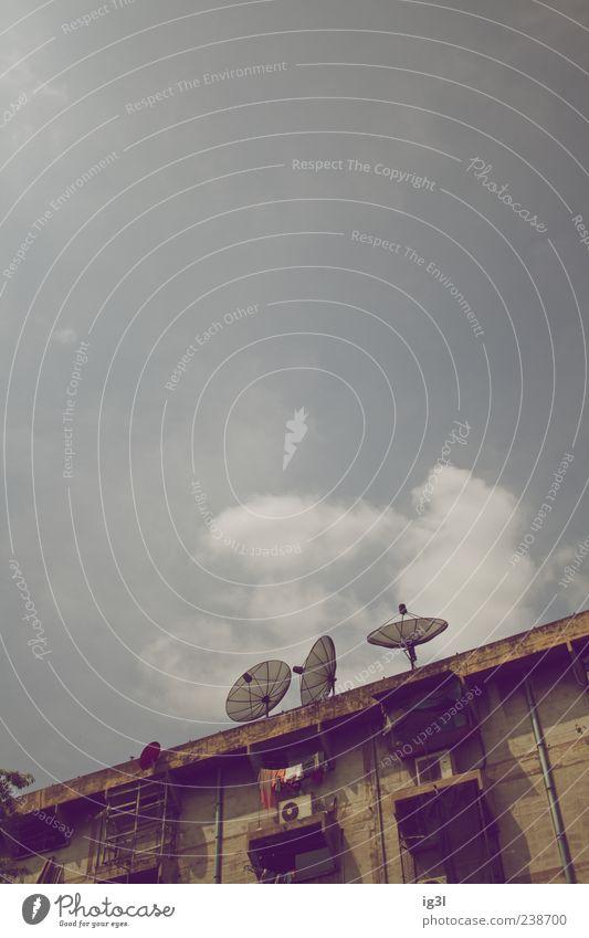 cocktail Technik & Technologie Fortschritt Zukunft Bangkok Thailand Asien Hauptstadt Dach Antenne Satellitenantenne Stein Metall Zeichen Schutzschild Erholung