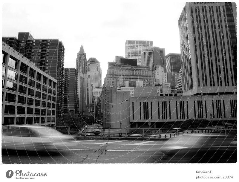 new york taxi Haus Straße Bewegung PKW Gebäude Hochhaus Geschwindigkeit Stadt Perspektive USA Skyline New York City Straßenverkehr Eile Wagen