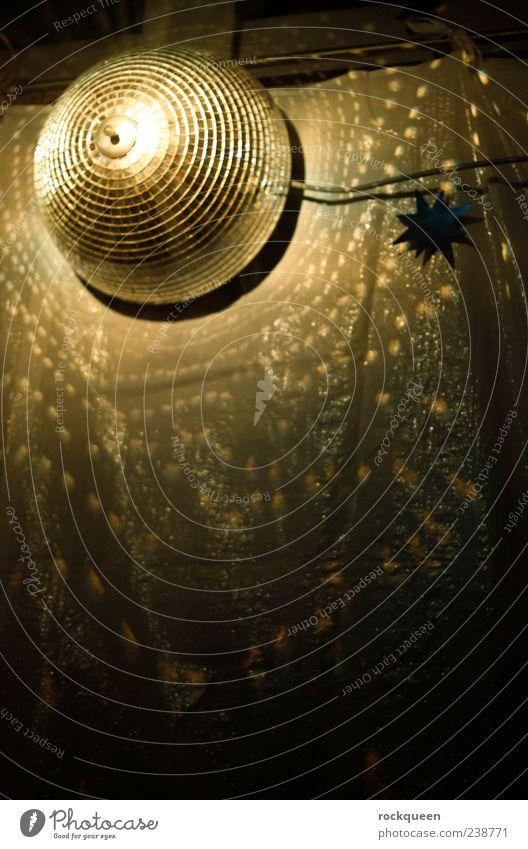 Ich Disco gelb Musik gold glänzend Club Veranstaltung trendy Entertainment Nachtleben schimmern Discokugel clubbing