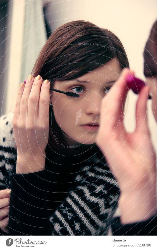 Jugendliche schön Schminke klug Kosmetik Wimperntusche