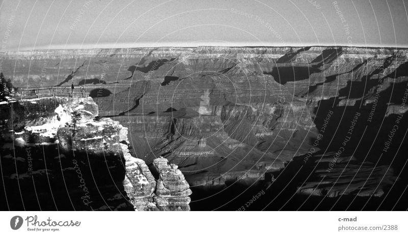 Grand Canyon Winter Landschaft Stimmung Erde USA Schlucht Bekanntheit Sehenswürdigkeit Nationalpark Amerika Attraktion Naturphänomene Arizona Ausflugsziel Geologie Grand Canyon