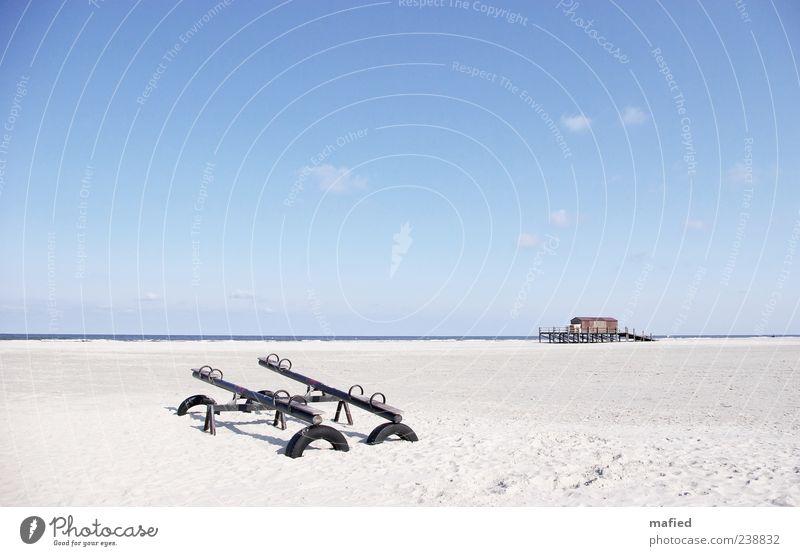 Sonntag Morgen im Freizeitpark Himmel blau Wasser weiß Sommer Meer Strand Haus Landschaft Küste grau Sand Luft braun Schönes Wetter Nordsee