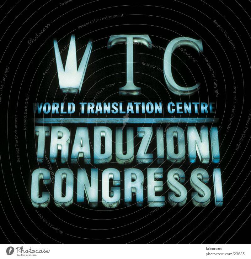 leuchtreklame Schriftzeichen Italien Typographie Neonlicht Leuchtreklame