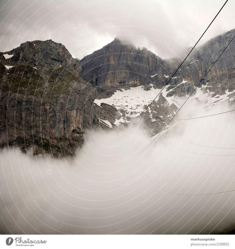 nebel seil Ferien & Urlaub & Reisen Ferne Umwelt Berge u. Gebirge Freiheit Wetter Felsen Nebel Ausflug Tourismus bedrohlich Alpen Gipfel Sommerurlaub