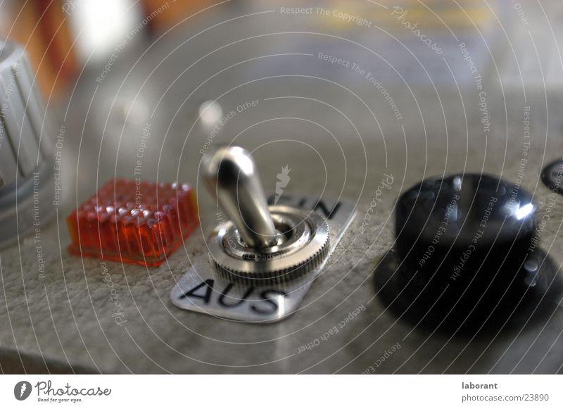 schalter Schalter Lampe Chrom Elektrisches Gerät Technik & Technologie Metall an aus