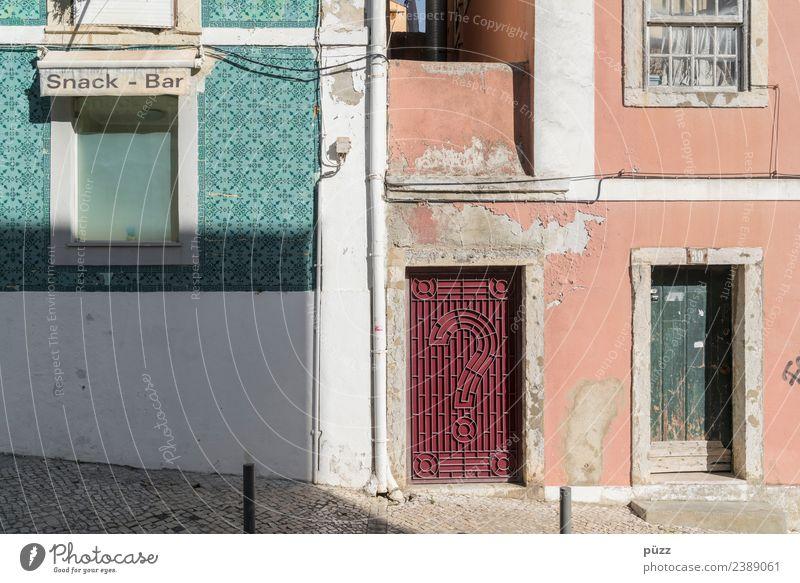 Snack-Bar Lissabon Portugal Stadt Hauptstadt Hafenstadt Stadtzentrum Altstadt Menschenleer Haus Gebäude Mauer Wand Fassade Fenster Tür Straße alt authentisch
