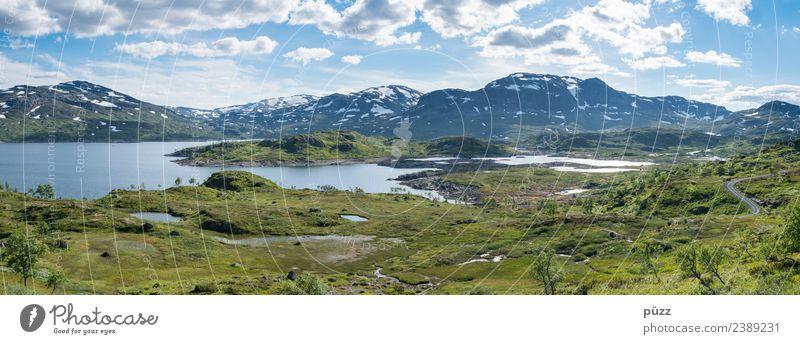 Panorama Angeln Ferien & Urlaub & Reisen Ausflug Abenteuer Ferne Freiheit Berge u. Gebirge wandern Umwelt Natur Landschaft Wasser Himmel Wolken Wetter