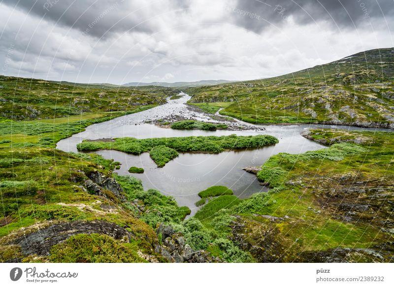 Symmetrie Angeln Ferien & Urlaub & Reisen Abenteuer Ferne Freiheit Berge u. Gebirge wandern Umwelt Natur Landschaft Urelemente Wasser Himmel Wolken Wetter