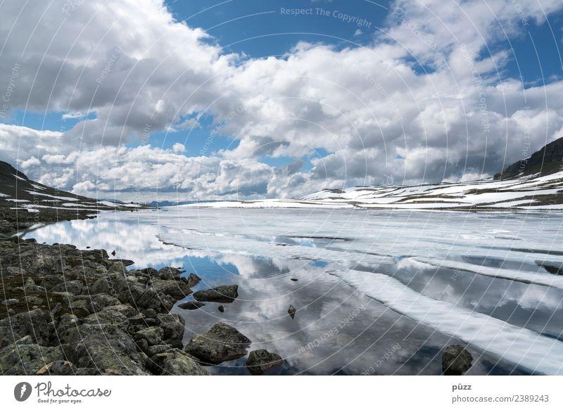 Wolken Himmel Natur Ferien & Urlaub & Reisen blau Wasser Landschaft weiß Erholung ruhig Ferne Berge u. Gebirge Umwelt Schnee Tourismus Freiheit