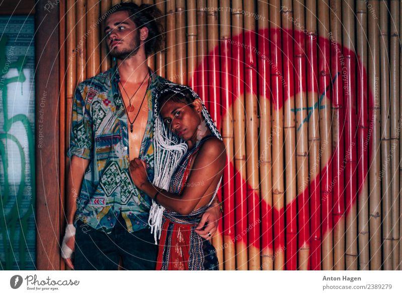 Nur die Liebenden sind noch am Leben. feminin Junge Frau Jugendliche Junger Mann Partner 2 Mensch 18-30 Jahre Erwachsene Künstler Kunstwerk Gemälde Jugendkultur