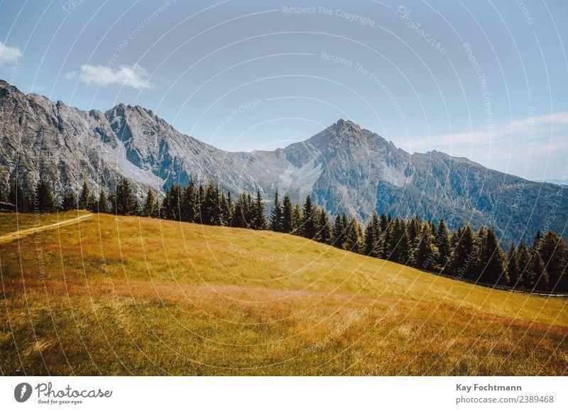 Herbstliche Idylle in den Dolomiten Erholung ruhig Ferien & Urlaub & Reisen Tourismus Freiheit Sommer Sommerurlaub Berge u. Gebirge wandern Natur Landschaft