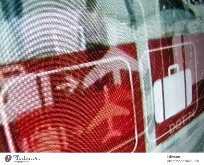 reise_piktogramm Ferien & Urlaub & Reisen Flugzeug Fernsehen Koffer Piktogramm Fototechnik