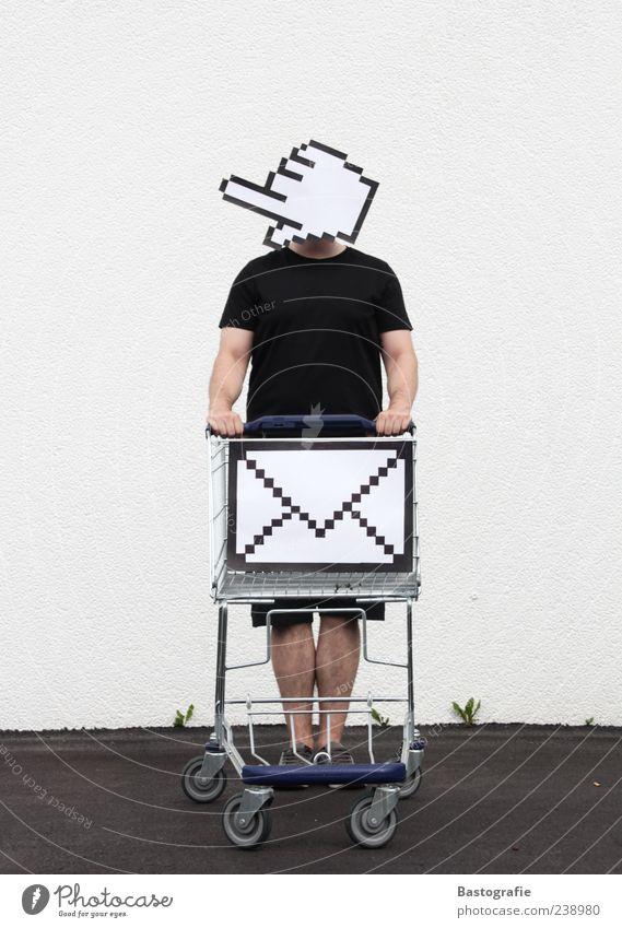 Warenkorb Mensch Mann Hand kaufen Informationstechnologie Internet Computermaus E-Mail Korb anonym Kapitalwirtschaft Technik & Technologie Computernetzwerk online verdeckt Bildpunkt