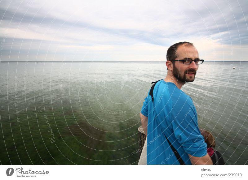 particula day, part 2 Gesicht Erholung Meer Mensch maskulin Mann Erwachsene Kopf Auge Mund Bart Hand 30-45 Jahre Wasser Himmel Wolken Horizont Ostsee Brille