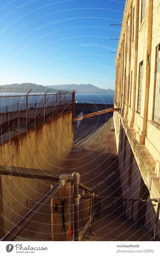 Alcatraz Wand Berge u. Gebirge Treppe erleuchten Justizvollzugsanstalt Nordamerika San Francisco