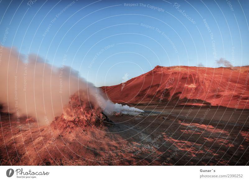 Solfatare in Island. Geothermale Energie in Island_001 Erholung Ferien & Urlaub & Reisen Tourismus Ausflug Abenteuer Ferne Freiheit Expedition Camping