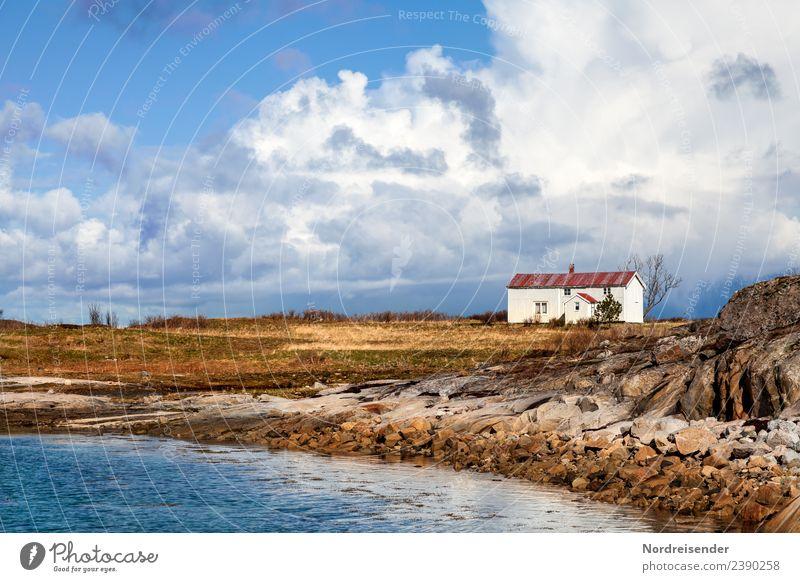 Leben im Norden Ferien & Urlaub & Reisen Ferne Meer Insel Natur Landschaft Wasser Himmel Wolken Frühling Sommer Herbst Schönes Wetter Gras Wiese Küste
