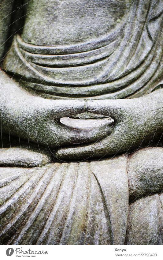 Ruhe Skulptur grau friedlich Güte ruhig Weisheit Glaube Religion & Glaube Buddhismus Stein Gedeckte Farben Außenaufnahme Tag Oberkörper