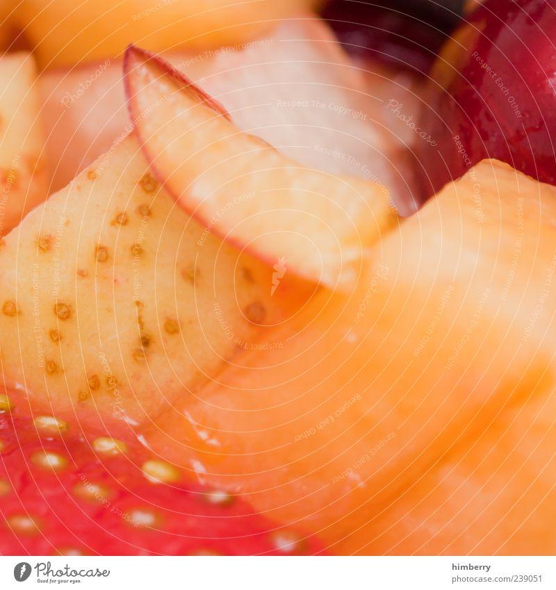 multivitamin schön Gesundheit Frucht Orange glänzend Lebensmittel mehrere frisch Ernährung Apfel Frühstück lecker Bioprodukte Erdbeeren Salat Salatbeilage