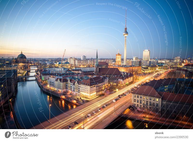 Berlin Skyline Ferien & Urlaub & Reisen Stadt Hauptstadt Bauwerk Gebäude Sehenswürdigkeit Wahrzeichen Denkmal Deutschland Großstadt architecture german