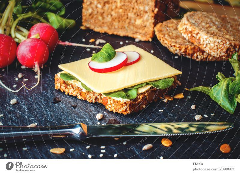 Käsebrot, ist ein gutes Brot Lebensmittel Milcherzeugnisse Gemüse Salat Salatbeilage Getreide Teigwaren Backwaren Ernährung Essen Frühstück Abendessen
