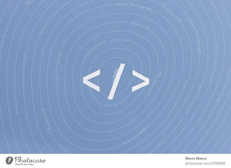 Programmier-Code Symbol blau Business Arbeit & Erwerbstätigkeit Technik & Technologie Geschwindigkeit Zeichen Netzwerk Internet Informationstechnologie trendy