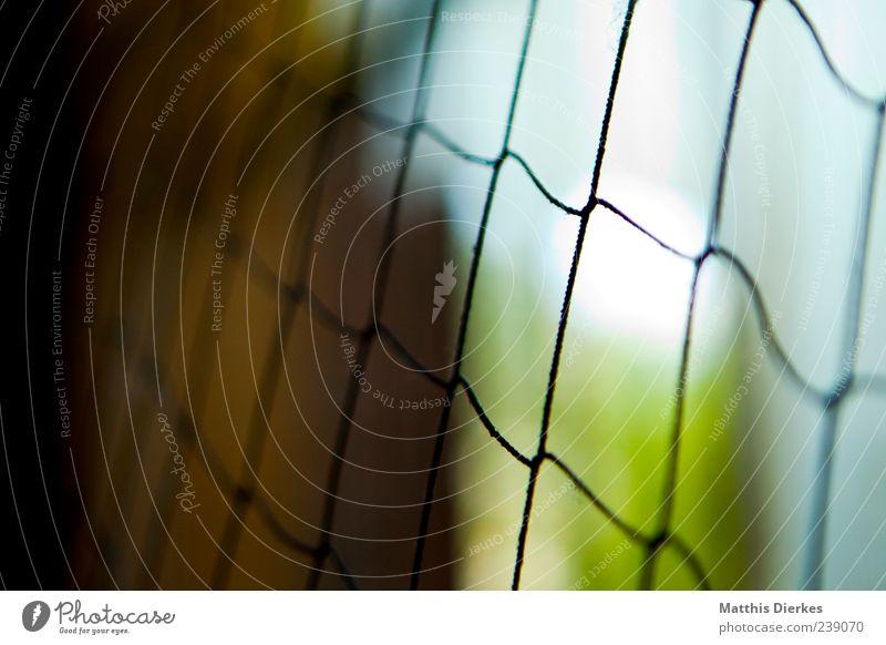 verschlossen kalt Zeit geschlossen trist Netz Barriere Gitter gefangen hässlich Durchblick Rechteck Schlaufe vage