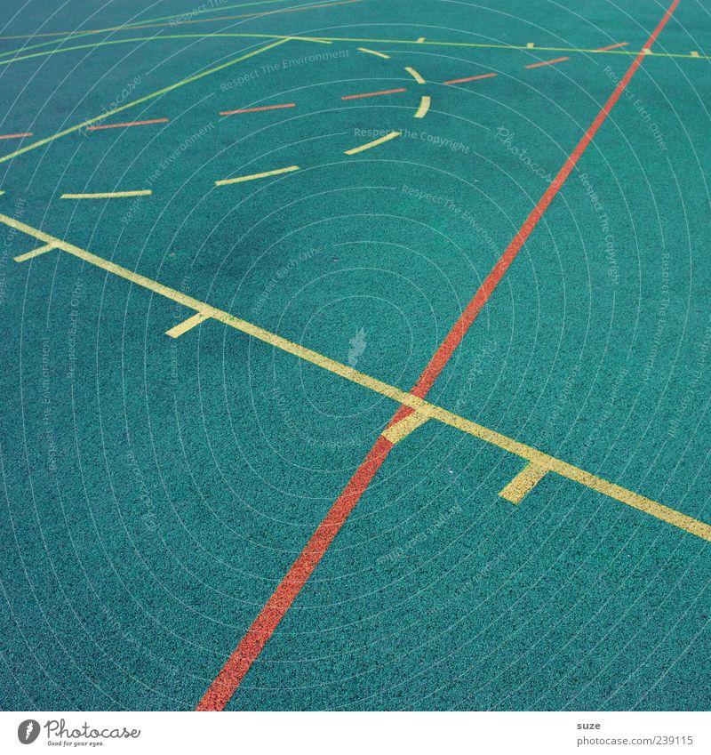 Spielstrategie Freizeit & Hobby Sport Sportstätten Platz Schilder & Markierungen Linie blau gelb Ordnung Sportplatz graphisch Grenze Spielfeldbegrenzung Gummi