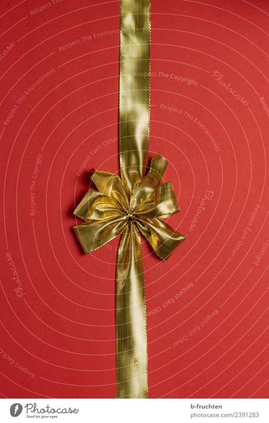 goldene Schleife Feste & Feiern Weihnachten & Advent Silvester u. Neujahr Hochzeit Geburtstag Taufe Papier Verpackung Paket Dekoration & Verzierung Kunststoff
