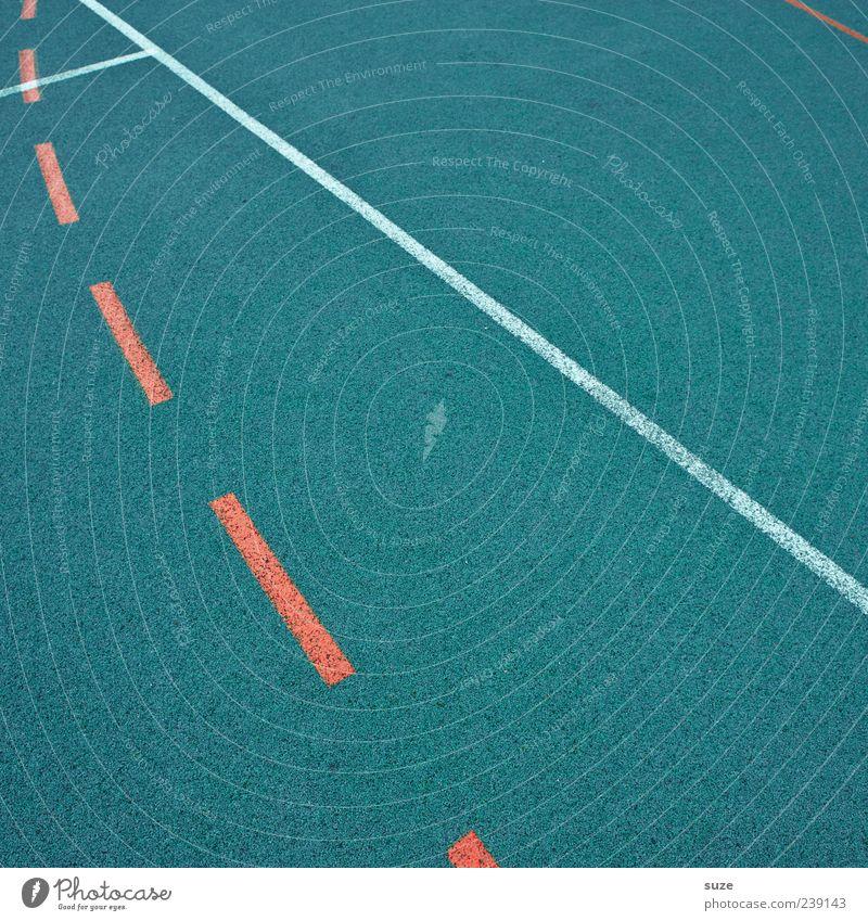 Performance Freizeit & Hobby Sport Sportstätten Platz Schilder & Markierungen Linie blau rot Ordnung Sportplatz graphisch Grenze Spielfeldbegrenzung Gummi