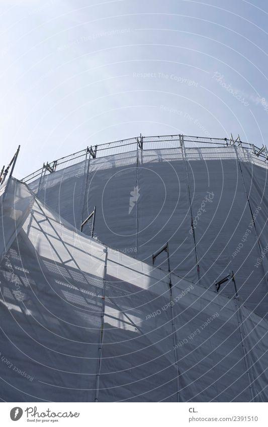 schaustelle baustelle Arbeit & Erwerbstätigkeit Beruf Handwerker Arbeitsplatz Baustelle Wirtschaft Mittelstand Himmel Wolkenloser Himmel Sonnenlicht