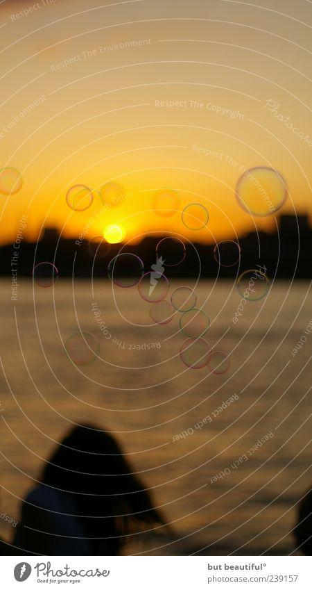 delicate dreams about to burst° Wasser Strand Gefühle Haare & Frisuren Warmherzigkeit Romantik einzeln Lebensfreude Flussufer Abenddämmerung