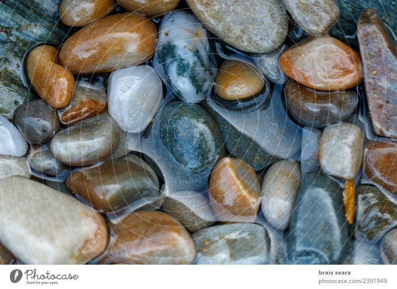 Natur blau Farbe Wasser Landschaft weiß Meer Erholung ruhig Strand Umwelt natürlich Küste Stein braun Textfreiraum