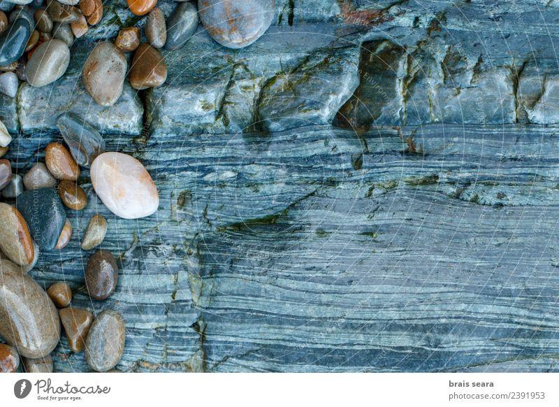 Natur blau Landschaft weiß Meer Erholung ruhig Strand Umwelt natürlich Küste Kunst Stein braun Textfreiraum Sand
