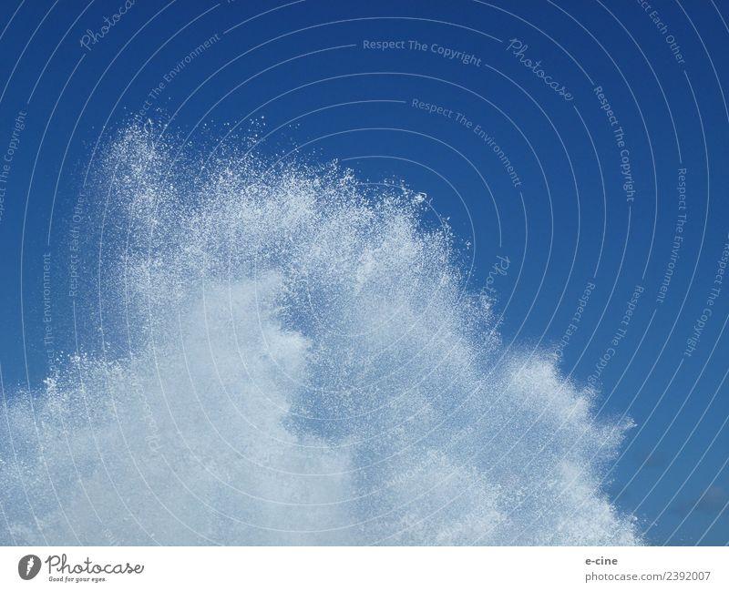 Wellenbrecher und Brandung am Meer Wassersport Umwelt Natur Urelemente Luft Wassertropfen Himmel Frühling Sommer Herbst Winter Klima Wetter Wind Sturm Küste