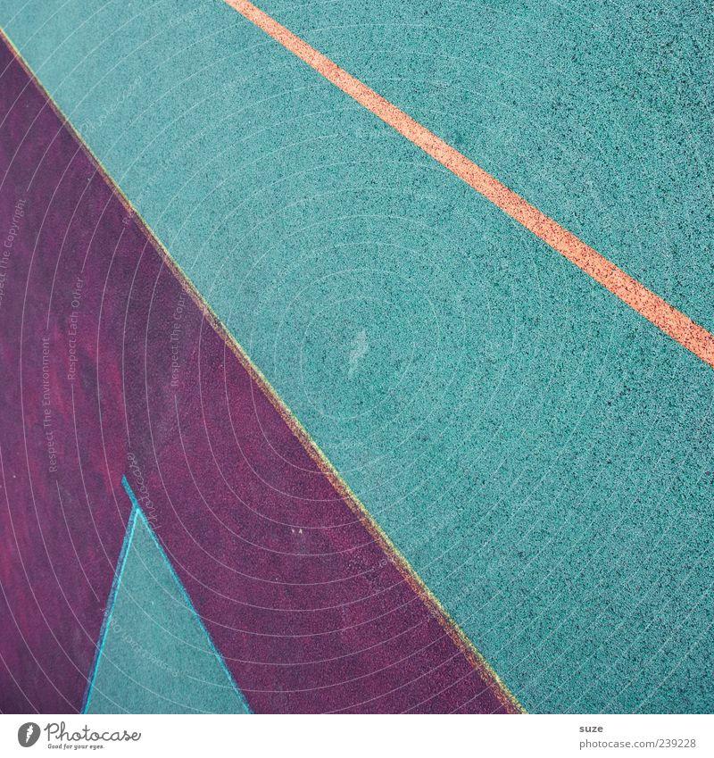 Erster Platz blau rot Linie Schilder & Markierungen Ordnung Bodenbelag Streifen Spielfeld Grenze diagonal Neigung graphisch Gummi Begrenzung Sportplatz