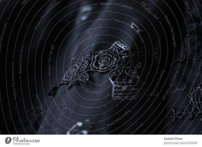 schwarze Musik Blume dunkel außergewöhnlich Rose Stoff nah hängen Spitze Gardine Musiknoten Zeile Stickereien