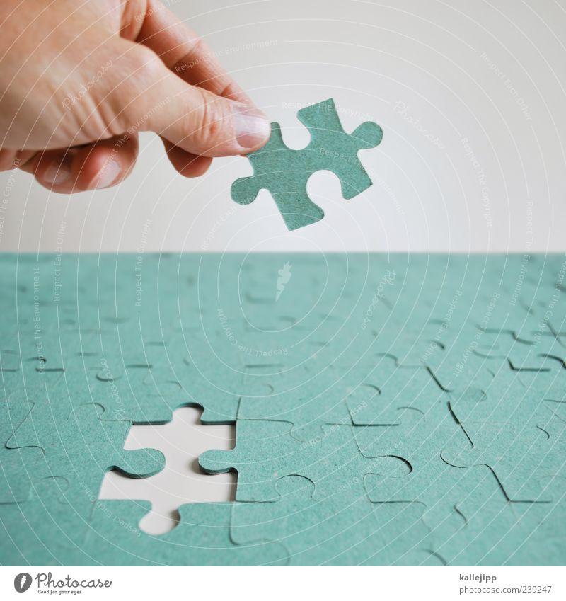 drag'n'drop Freizeit & Hobby Spielen Mensch maskulin Mann Erwachsene Hand Finger 1 berühren einsetzen Puzzle finden planen Erfolg Erfolgsaussicht fehlen perfekt