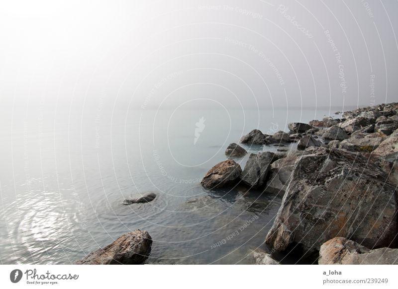 lake pukaki Umwelt Natur Urelemente Wasser Himmel Herbst Felsen Wellen Küste Seeufer kalt natürlich Fernweh Einsamkeit stagnierend Ferne Neuseeland Lake pukaki
