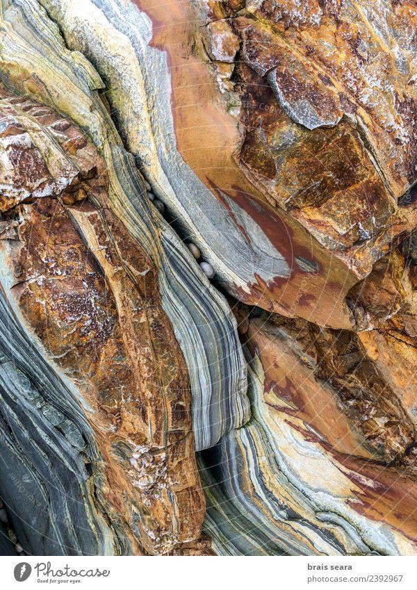 Natur blau Farbe Landschaft weiß Meer Erholung Strand Umwelt natürlich Küste Stein braun Textfreiraum Sand Felsen