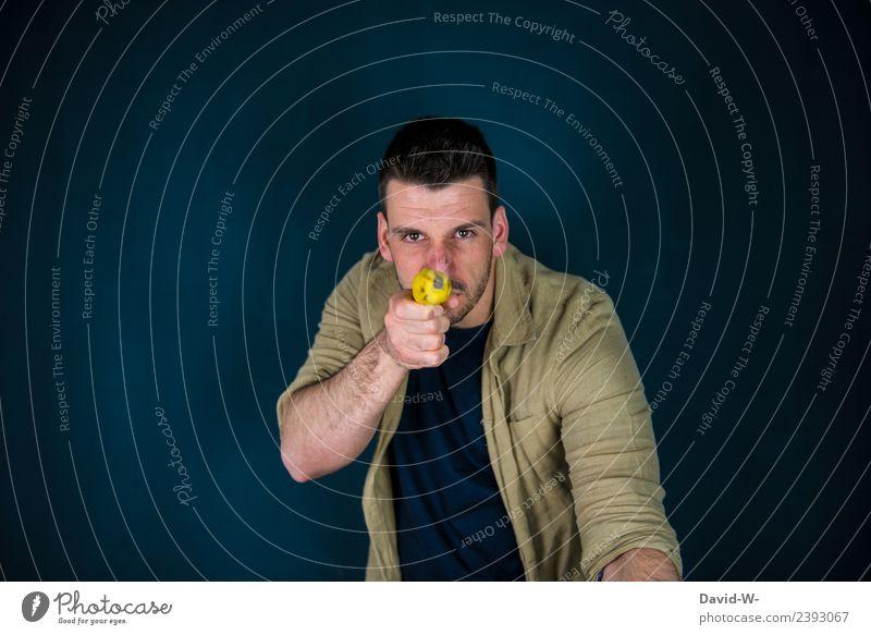 Hände hoch Lifestyle Stil Business Mittelstand Unternehmen Mensch maskulin Junger Mann Jugendliche Erwachsene Leben 1 18-30 Jahre beobachten Konflikt & Streit
