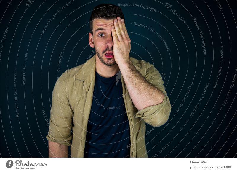 sehen Lifestyle Gesundheit Gesundheitswesen Behandlung Krankheit Leben Sinnesorgane Bildung Mensch maskulin Junger Mann Jugendliche Erwachsene Auge 1 Kunst