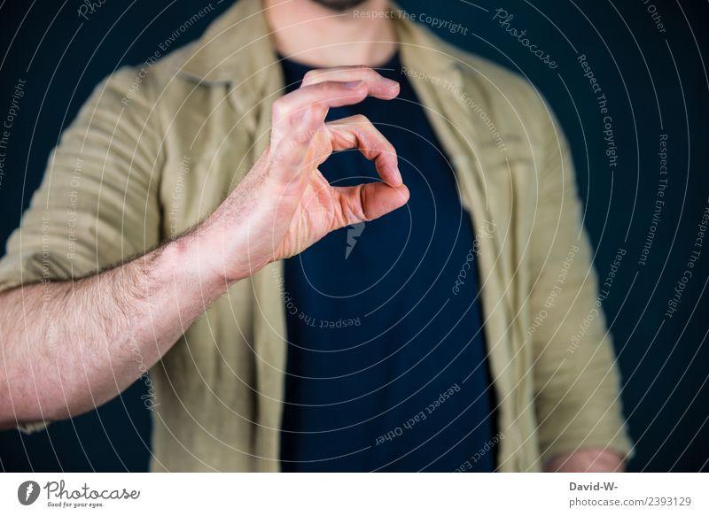 korrekt Freude Zufriedenheit Bildung Lehrer Berufsausbildung Azubi Studium Urkunde Business Karriere Erfolg Mensch maskulin Mann Erwachsene Leben Hand Finger 1