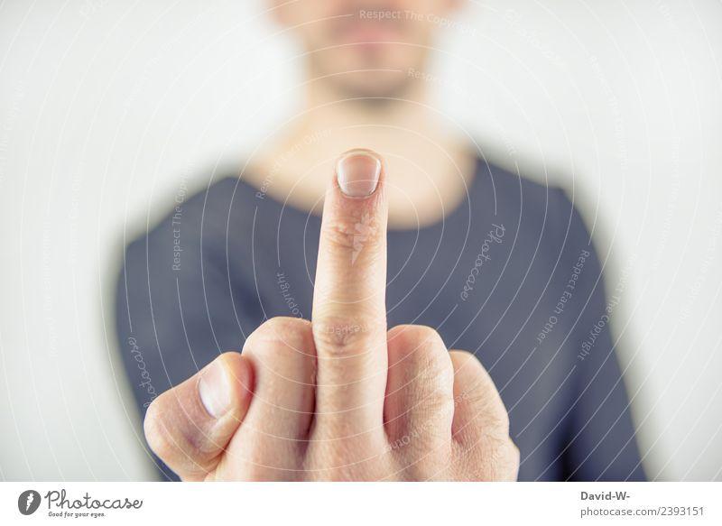 du kannst mich mal Lifestyle elegant Kindererziehung Bildung Mensch maskulin Junger Mann Jugendliche Erwachsene Leben Hand Finger 1 Kommunizieren