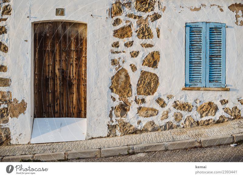 Mediterrane Häuserfront Stil Design harmonisch Wohlgefühl Zufriedenheit Erholung ruhig Ferien & Urlaub & Reisen Ausflug Freiheit Häusliches Leben Wohnung Haus
