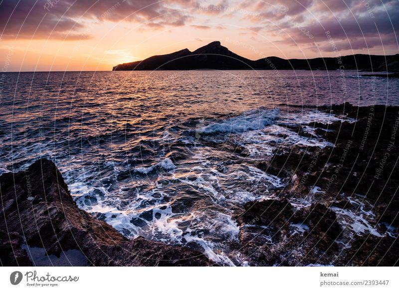 La Dragonera Himmel Ferien & Urlaub & Reisen Sommer schön Wasser Landschaft Sonne Meer Erholung Wolken ruhig Ferne Wärme Küste Freiheit Felsen