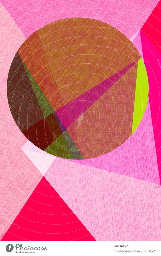Kreisdesign - bunte Papiercollage Design Tapete Hochzeit Business Internet Kunst Linie einfach modern Sauberkeit rosa rot weiß Farbe Kreativität Werbung