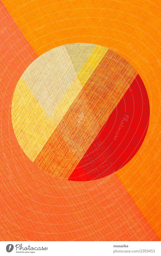 Kreisdesign - bunte Papiercollage Lifestyle elegant Stil Design exotisch Freude schön Wellness Leben harmonisch Wohlgefühl Valentinstag Erntedankfest