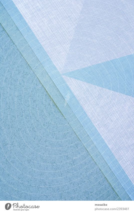 Grafische Formen aus Papier Büroarbeit Werbebranche Kunst Kultur hell trendy blau hell-blau Einladung Hochzeit Muster Oberflächenstruktur Grafik u. Illustration