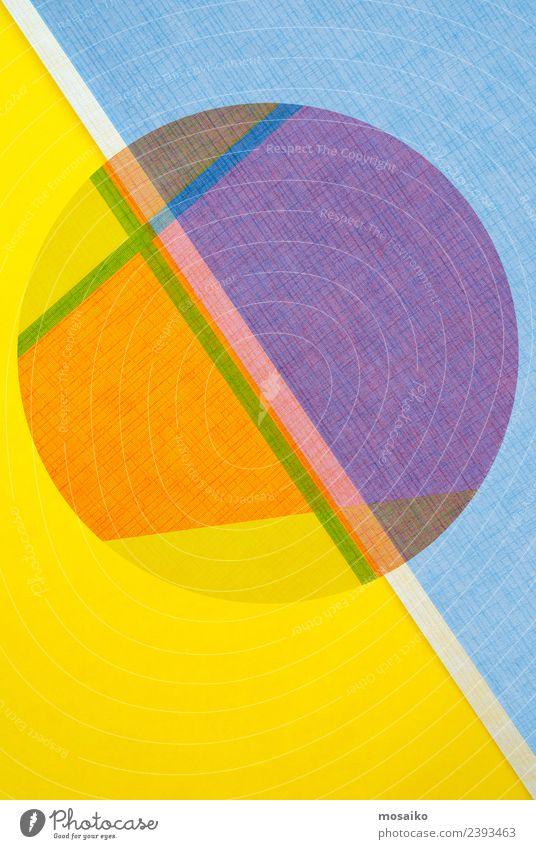 Kreisdesign - bunte Papiercollage Stil Design Glück Tapete Handwerk Business Internet Kunst Mode Paket Linie einfach hell modern Sauberkeit weiß Farbe